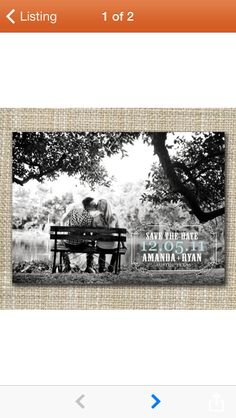 This is nice & simple...but I must have it all! Save the dates, engagement photos, parties, showers & of course the wedding!