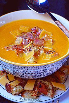 Κολοκυθόσουπα Pumpkin Soup, Thai Red Curry, Soups, Ethnic Recipes, Food, Squash Soup, Essen, Soup, Yemek