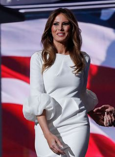 Melania Trump Stuns At The Republican Convention In A Gorgeous White Dress