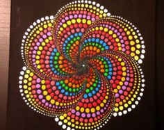 Original Mandala Dot painting hand made by Anna Kep by MoldaART