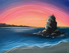 Sumner Shag Rock Paint And Sip, Waves, Paintings, Rock, Studio, Glass, Outdoor, Outdoors, Paint