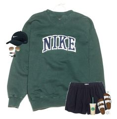 """""""lazy days"""" by maggie-prep ❤ liked on Polyvore featuring NIKE, Madewell, Birkenstock, Ray-Ban, Kendra Scott, NYX, Conair and Stila"""
