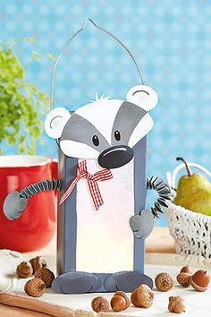 DIY Milk Carton Badger Lantern