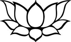 Flower Drawings Ideas Lotus Line Drawing - ClipArt Best Simple Flower Drawing, Easy Flower Drawings, Fish Drawings, Outline Drawings, Simple Flowers, Cool Drawings, Drawing Flowers, Simple Flower Design, Lotus Flower Design