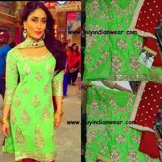 Kareena Bajrangi Bhaijan Suit Desi Wear, Indian Dresses, Salwar Kameez, Indian Fashion, Sarees, Bollywood, Celebs, Turquoise, Suits