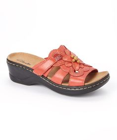 Look what I found on #zulily! Red Lexi Basil Leather Sandal #zulilyfinds