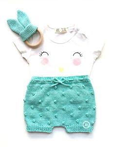 Ravelry: Popcorn baby shorts pattern by Marta Porcel