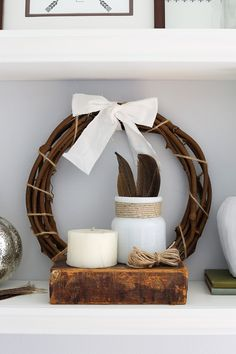 How to Style Shelves in 7 Simple Steps {and My Fall Shelf Decor! Fall Bedroom, Master Bedroom, Shelves In Bedroom, Decorating Tips, Decorative Items, Floating Shelves, Fall Decor, Color Schemes, Diy Home Decor