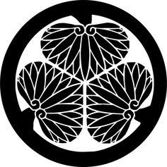 Mitsubaaoi by zeimusu - Japanese heraldic badge. Free clip art. Japanese fan.