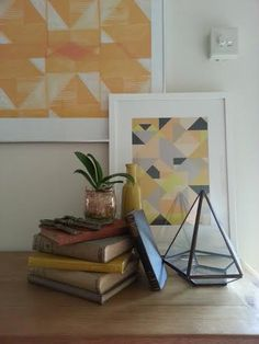 Shirley's geometric vignette #collectcreatedecorate