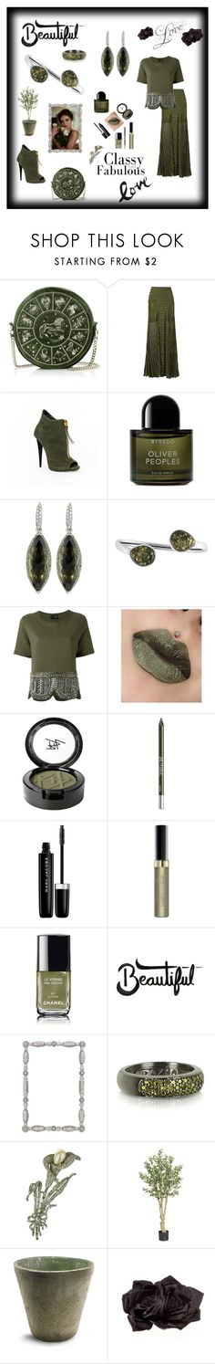 """""""Spectacular Styled Sage"""" by mcronald-denise ❤ liked on Polyvore featuring Andrea Bogosian, Byredo, Be-Jewelled, Beauty Is Life, Urban Decay, Marc Jacobs, Max Factor, Olivia Riegel, Azhar and Nearly Natural"""