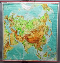 educational school A3 size NORTH AMERICA Map Poster Wall chart