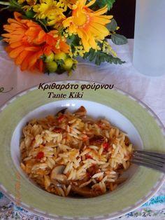 Καλή σας μέρα! Ο Αύγουστος είναι ήδη μια πραγματικότητα και είμαστε πια μιαν αναπνοή από τη μεγάλη γιορτή της Παναγίας! Έχοντας, λοιπόν, κατά νου ότι πάρα πολλοί ανάμεσά μας νηστεύουν θα μιλήσουμε σήμ Greek Recipes, Cooking Recipes, Cooking Ideas, Blog, Food And Drink, Rice, Vegetarian, Pasta, Foods