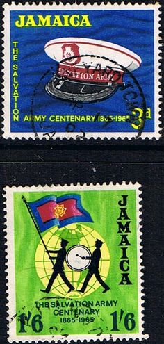 Jamaica 1964 Salvation Army Centenary Fine Used SG Scott 242 3 Other West Indies and British Commonwealth Stamps HERE!