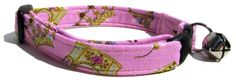 Breakaway Cat Collar in Pink Princess Crown (Handmade in the U.S.A.) -- You can find more details by visiting the image link. (This is an affiliate link and I receive a commission for the sales) #PetCats