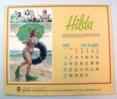 Vintage 1986 2025 Duane Bryers Hilda 13 Month Large Format ...