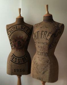 fabulous vintage French grain sack mannequins