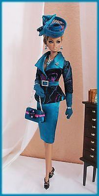OOAK Fashions for Silkstone / Vintage barbie / Fashion Royalty - Brocade silk