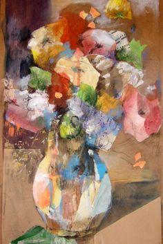 "Saatchi Art Artist Susana Llobet; Collage, ""Spring flowers"" #art"