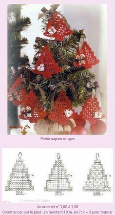 Filet Crochet Ornaments