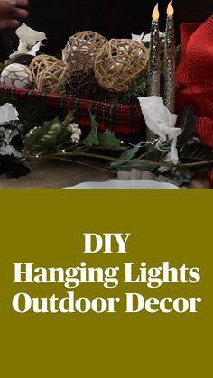 Diy Crafts For Home Decor, Diy Crafts Hacks, Diy Arts And Crafts, Crafts To Do, Diy Hanging, Hanging Lights, Backyard, Patio, Dollar Store Crafts