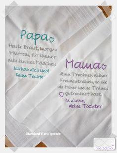 Besticktes Taschentuch Mama