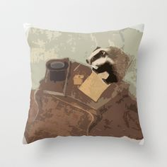 Badger was preparing to write his memoirs.  Throw Pillow by anipani - $20.00