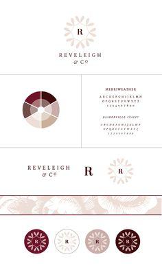 New Brand + Website Design for Reveleigh & Co. | Burgundy mauve classic branding