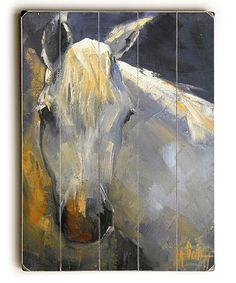 Look at this #zulilyfind! White Horse Wood Wall Art #zulilyfinds