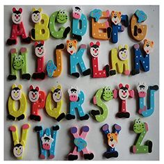 Lisingtool Toys Child Educational Toy26 Pcs Wooden Cartoon Alphabet AZ Magnets * Check out this great product.Note:It is affiliate link to Amazon.