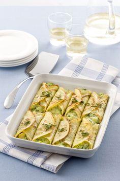 Zucchine e formaggio _cannelloni