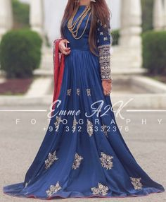 Pakistani Frocks, Pakistani Formal Dresses, Pakistani Wedding Outfits, Pakistani Wedding Dresses, Pakistani Dress Design, Formal Dresses For Weddings, Anarkali Gown, Lehenga, Saree