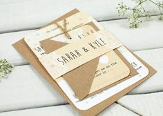 Map wedding invitation - rustic bundle wedding invitation