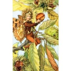 Autumn Fairy Vintage Wall Art