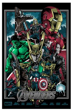 The Avengers Movie Screen Print Poster Alexander Iaccarino Infinity War Thanos for sale online Poster Marvel, Marvel Movie Posters, Avengers Poster, Marvel Comics Art, Marvel Heroes, Posters Uk, Captain Marvel, The Avengers, Avengers Film