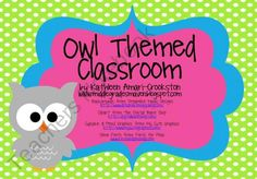 Owl Themed Classroom from Middle Grades Maven on TeachersNotebook.com (264 pages)