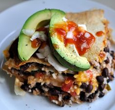 Easy Vegetarian Tortilla Pie--must try this one :)