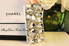 Clear crystal iPhone 4 Case, big rhinestone iPhone 5 Case for girls