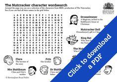 Nutcracker character wordsearch