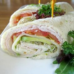 Hidden Valley Wraps -  ranch dressing, tomatoes, cream cheese,turkey breast, avocados and alfalfa sprouts