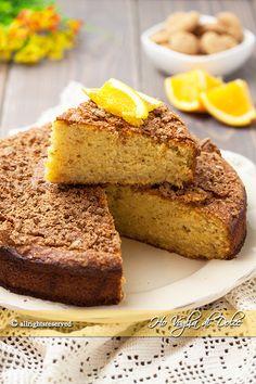 torta all'arancia e amaretti morbidissima