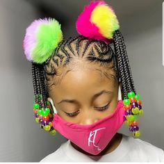 Little Girl Braid Hairstyles, Black Kids Hairstyles, Little Girl Braids, Baby Girl Hairstyles, Natural Hairstyles For Kids, Kids Braided Hairstyles, Natural Hair Styles, Beautiful Hairstyles, Young Girls Hairstyles