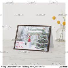Merry Christmas Snow Scene Holiday Card
