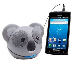 We can't help it! We can't stop smiling at this super cute koala speaker system! #GiftIdeas