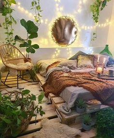 Bohemian Bedroom Decor, Boho Room, Bedroom Rustic, Bedroom Modern, Room Design Bedroom, Room Ideas Bedroom, Bedroom Designs, Girls Bedroom, Dream Rooms