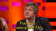 He doesn't take anyone's shit. | 23 Reasons Why Martin Freeman Is A Wonderful…