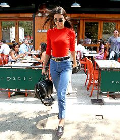 Kendall Jenner Rocks Mom Jeans for Lunch Date: See Her Street Style! - Us Weekly