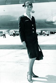 Iberia Flight Attendant 1954.  The best uniforms were the 1971 circa. Wished I kept mine.
