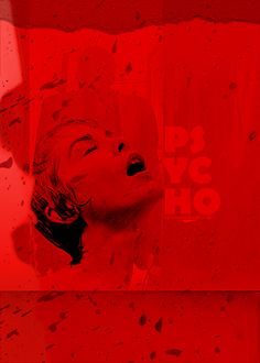 Red Shower.#Alfred Hitchcock#Psycho