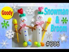 Christmas Balloons, Christmas Ornaments, Videos, Snowman, Sculptures, Goodies, Xmas, Holiday Decor, Balloon Ideas